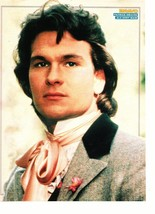 Patrick Swayze teen magazine pinup clipping really dressed up old time 1980's