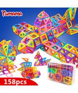 TUMAMA Mini 158pcs/lot Magnetic Building Blocks Toys Construction Model 3D - $45.78