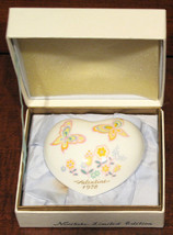 EXCELLENT BOXED USED NORITAKE 1978 BONE CHINA HEART LIMITED EDITION 6TH ... - $9.79