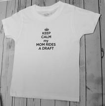Keep Calm my Mom Rides a Draft Novelty Custom Onesie Baby Unisex Bodysui... - $16.99+