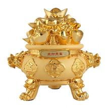 Wenmily  Golden Ingot/Yuan Bao Treasure Basin Wealth Porsperity Figurine... - $75.13