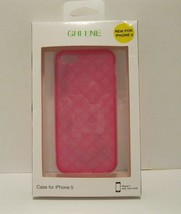 Greene NIB Clear Pink Jelly Diamond iPhone 5 Silicone Case Snap-On - $15.75