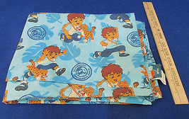 Toddler Size Flat Sheet Go Diego Go Nick Jr. Retired Pattern In Blue - $17.86