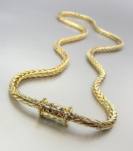 """CLASSIC 18kt Gold Plated BALINESE Kali Dots Magnetic Clasp 20"""" Cable Necklace - $19.99"""