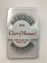 CHERRY BLOSSOM EYELASHES MODEL# 218 100% HUMAN HAIR  BLACK 1 PAIR PER EA... - $1.48+