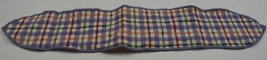 Longanerger Blueberry Plaid Handle Tie Collectible Accessory Fabric Home... - $10.99