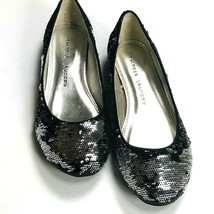 Chinese Laundry Good Times Womens Shoes Size 5.5 M  Black Silver Sequin ... - $18.65