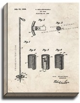 Ski-pole Patent Print Old Look on Canvas - $39.95+