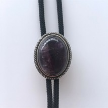 New Vintage Nature Brazil Amethyst Stone Bolo Tie Each One is Unique - $23.60