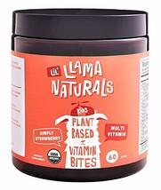 LLama Naturals Plant Based Vitamin Bites Kids; Organic; No Added Sugar, Sweetene