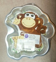 WILTON ALUMINUM MONKEY CAKE PAN OR MOLD WITH INSERT  - $15.99