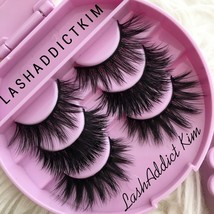 3 Lashes MINK Lashes Fur Siberian + Eyelashes Case  PR Makeup Case US SE... - $11.99