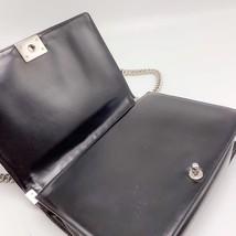 AUTHENTIC CHANEL BLACK LARGE GLAZED BOY FLAP BAG SHW image 6