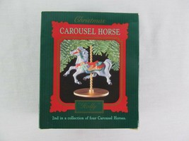Hallmark Holiday Carousel Horse Holly 1989 Christmas  - $9.89