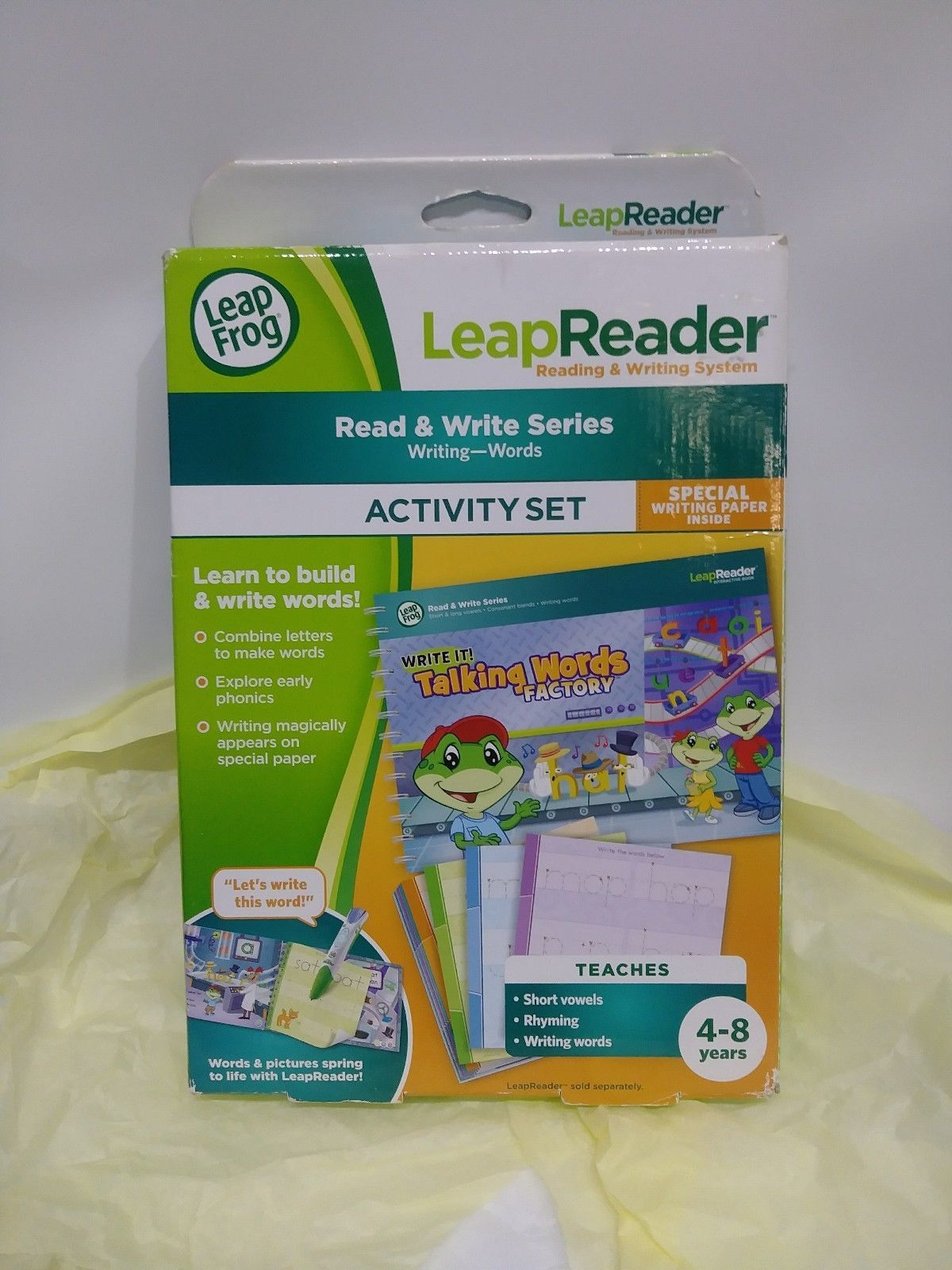 LEAP FROG LEAP READER READ WRITE SERIES WRITING WORDS SHORT VOWELS AGES 4-8 NWB