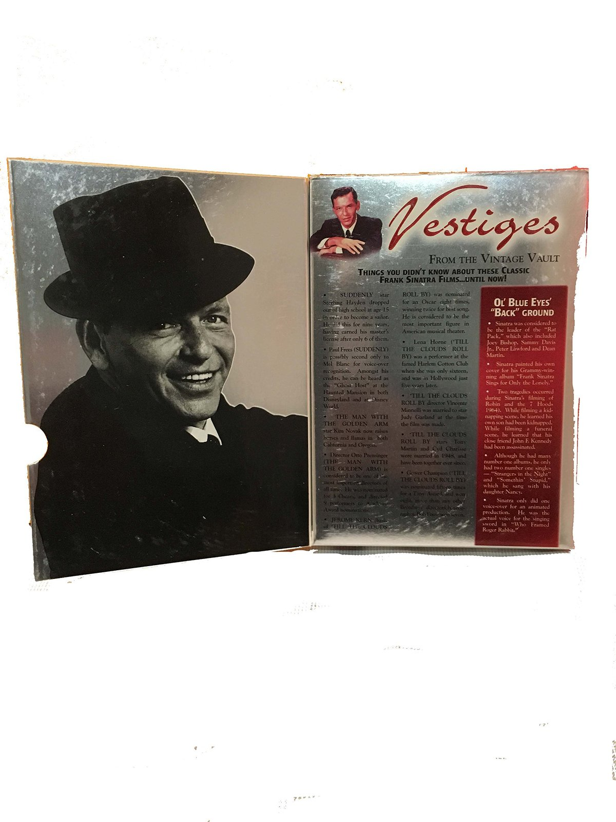 Frank Sinatra Music CD & DVD - 2 Disc Set