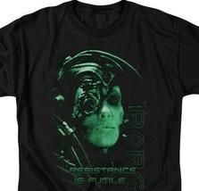 Borg t-shirt Star Trek Resistance is Futile humanoid retro sci-fi series CBS515 image 2