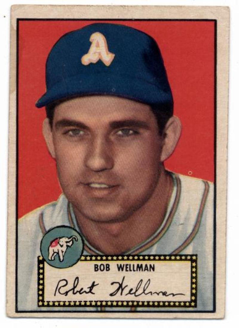 Primary image for 1952 Topps #41 Bob Wellman Athletics VG/EX Very Good/Excellent (RC - Rookie Card