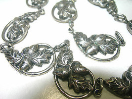 Vintage Sterling Silver Danecraft Acorn Leaves & Acorns Decorative Necklace - $150.00