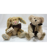 Mohair Bear Lot of 2 Vintage 1997 Martha T Bunnycombe & Fitzgerald Q Bea... - $18.70