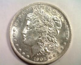 1903 MORGAN SILVER DOLLAR UNCIRCULATED UNC. NICE ORIGINAL COIN FROM BOBS... - $145.00