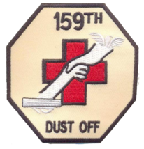 """US Army 159th Dust Off Patch 3.25"""" x 3.25"""" - $13.85"""