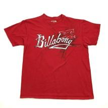Billabong Script Shirt Size Large Red Baggy Fit ORGANIC COTTON BLEND Ska... - $8.92