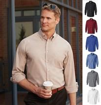 VAN HEUSEN MEN'S SILKY POPLIN LONG SLEEVE DRESS BUSINESS SHIRT 13V0113-7... - $19.24+