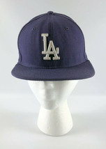 Los Angeles Dodgers Baseball Hat New Era 59Fifty Purple - Fitted Size 7 - $29.69