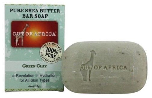 Out of Africa Pure Shea Butter Bar Soap Green Clay 2 Bar Pack