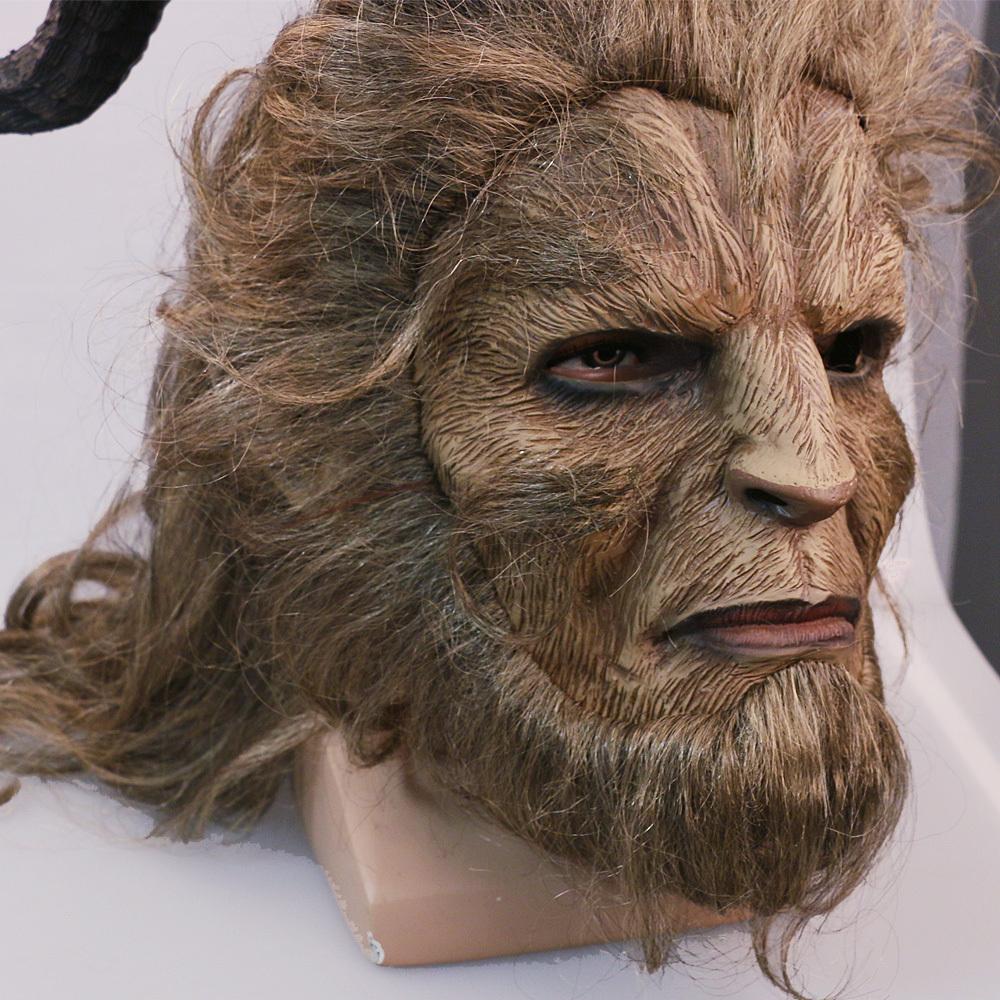 Handmade Beauty and the Beast Mask Prince Dan Stevens Beast Mask Cosplay image 3