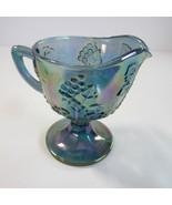 Vintage Indiana Glass Iridescent Blue Harvest Grape Creamer - $6.99