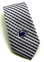 Penn St. Nittany Lions Men's Necktie Licensed College University Plaid N... - $31.68