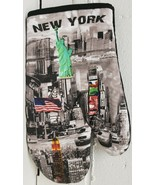 "1 Printed Kitchen 10"" Oven Mitt, NEW YORK,TIMES SQUARE, STATUE OF LIBERT... - $7.91"
