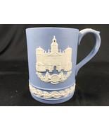 Vintage Wedgwood Blue Jasperware Christmas 1978 Tankard Mug Horse Guards - $24.99