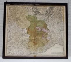 1710 ANTIQUE HOMANN ENGRAVING MAP PIEDMONT ITALY MILAN TORINO + SAVOIE E... - $866.67