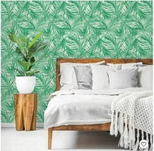 "Peel & Stick Wallpaper, Tropical Palm Green By Opalhouse 198"" X 20"" image 1"