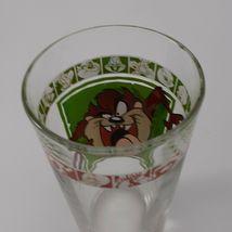"""1999 Warner Bros 5 3/4"""" Looney Tunes Tasmanian Devil Drinking Glass AS IS image 3"""