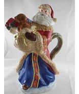 "Dillard's Trimmings Ceramic Old World Style Woodland Santa Teapot 12"" - $49.45"
