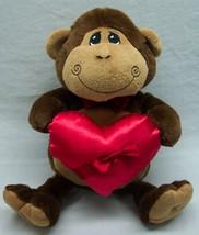 "The Petting Zoo VERY SOFT MONKEY W/ RED HEART 14"" Plush STUFFED ANIMAL Toy - $19.80"