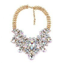 Women Statement Necklace Bling Choker Crystal Fashion Large Costume J - $52.07
