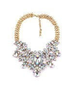 Women Statement Necklace Bling Choker Crystal Fashion Large Costume J - $1.054,25 MXN
