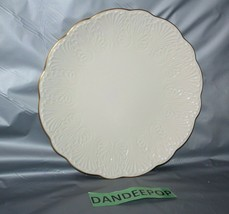 """Lenox Wildwood 12.5"""" Scalloped Edge  Round Server Plate With 24K Gold Trim  - $64.34"""