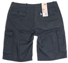 NEW LEVI'S MEN'S PREMIUM COTTON RELAXED FIT CARGO SHORTS CHARCOAL 124630177