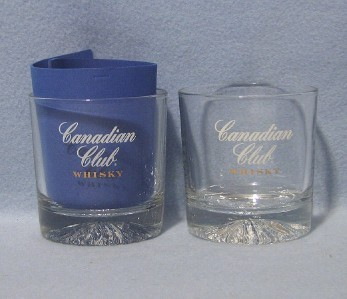 Primary image for Canadian Club Whisky 2 Old Fashioned Rocks Low Ball Bar Glasses