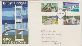 GB 1968 British Bridges set GPO FDC Newcastle postmark see rest - $0.69