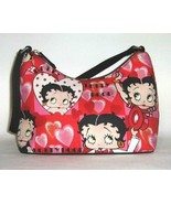 Betty Boop Purse Red & Pink Hearts Small - $8.99
