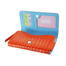 Alligator Orange Wallet Credit Card Case fits LG Aristo 2 - $19.79