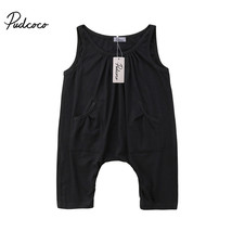 summer Long Pant Jumpsuit baby girl Sleeveless Casual Rompers Infant Kid... - $11.99