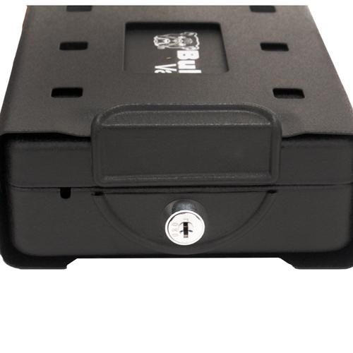 "Bulldog CarSafe Key Lock Car/Travel Safe Black 8.2""X5.9""X2.2"""